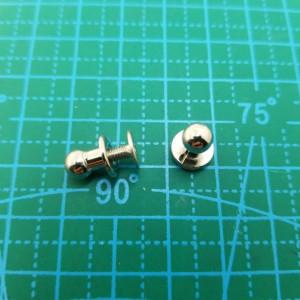 Кабурная кнопка 6 мм никель