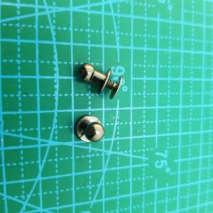 Кабурная кнопка 6 мм черный никель
