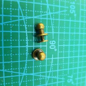 Кабурная кнопка 6 мм антик