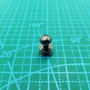 Кабурная кнопка 7 мм -038 черный никель.