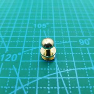 Кабурная кнопка 7 мм -038 золото.