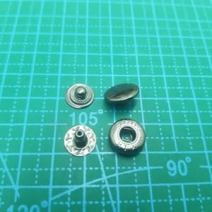 12,5 мм Кнопка галантерейная  черный никель