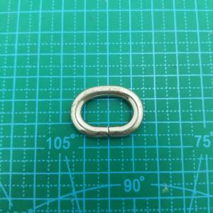 Овал 20*12*5 мм никель