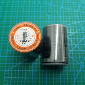 801 Нитки вощеные толщина 0,8 мм круглая. Черный.