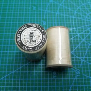 802 Нитки вощеные толщина 0,55 мм круглая беж.светлый