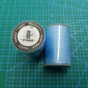 804 Нитки вощеные толщина 0,55 мм круглая голубая.