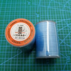 804 Нитки вощеные толщина 0,8 мм круглая голубая.