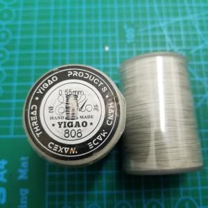 808 Нитки вощеные толщина 0,55 мм светло серый.