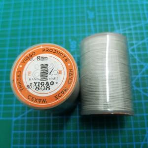 808 Нитки вощеные толщина 0,8 мм круглая, светло серый.