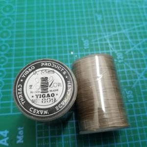 809 Нитки вощеные толщина 0,55 мм серо-коричневый.