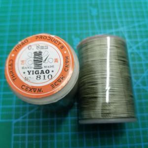 810 Нитки вощеные толщина 0,8 мм хаки, круглая.