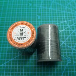 811 Нитки вощеные толщина 0,8 мм круглая. Серый.