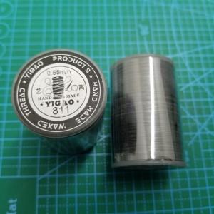 811 Нитки вощеные толщина 0,55 мм серый.