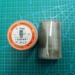 812 Нитки вощеные толщина 0,8 мм круглая.Светло Серый.