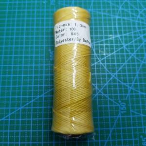 Нитки вощеные плоские 1 мм цвет 946 желтый