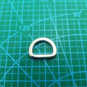 Полукольцо 15 мм 203 никель литое.