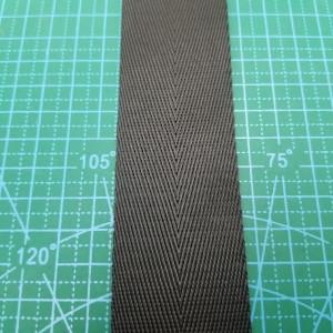 38 мм Стропа цвет черный рисунок елочка.