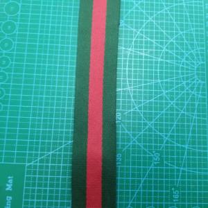 38 мм Стропа зеленая с красной полосой.