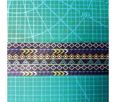 стропа 38 мм цветная ромб-треугольник