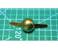 Пукля 12 мм золото