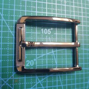 Пряжка ременная 40мм FG001050 цвет сер.чер никель