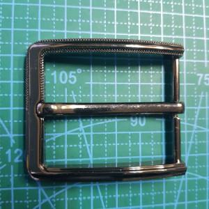 Пряжка ременная 40мм FG002633 цвет черный никель