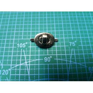 Замок на женскую сумку 22-16 мм никель арт.с33-3797