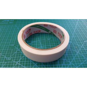 25 мм скотч на тканевой основе (19 м 10шт.в уп).белый