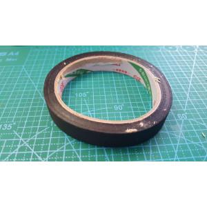 15 мм скотч на тканевой основе (19 метр. 17шт.в уп.)черный