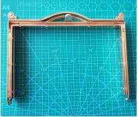 рамка металлическая на женскую сумку 18*12 см цвет золото ручка