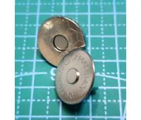 магнитная кнопка 18 мм никель