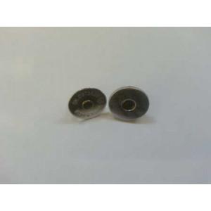 Магнитная кнопка 14 мм никель тонкий