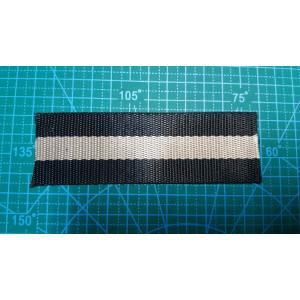 Стропа 38 мм серо черная с блеском