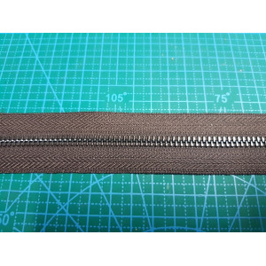 молния металлическая №5 цвет 204 металл черный никель ткань кор.