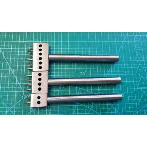 Строчный пробойник 6 мм 2-4-6 отверстий, комплект