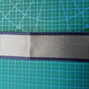 Стропа 38 мм на ремень сумки  син.-темн.сер.полоса