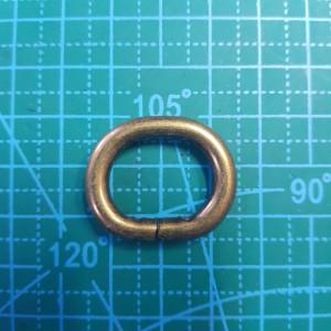 Овал 20*15*5 мм бронза