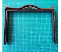 рамка металлическая на женскую сумку 18*12 см цвет черный никель