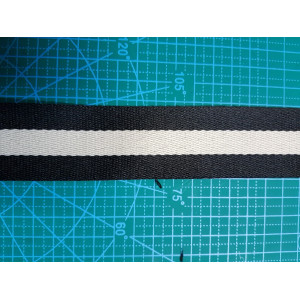 Стропа 38 мм серо черная