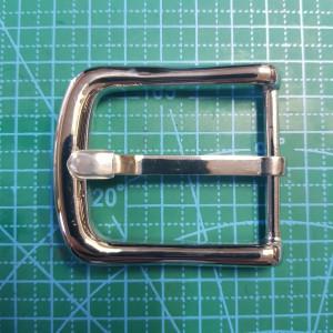 Стальная ременная пряжка  40 мм XY3 цвет сталь.