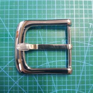 Стальная ременная пряжка 40 мм арт. XY5 цвет сталь