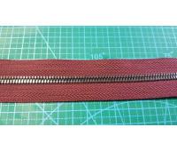 молния 179 металл, зуб черн.никель. ткань бордо